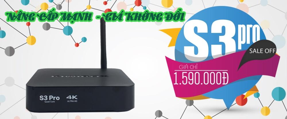 Android Tivi Box KIWIBOX S3 PRO (New) - Tặng Chuột Wifi