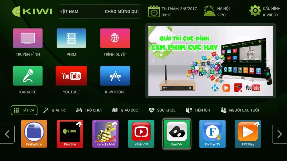 Giao diện Kiwibox S1 Pro