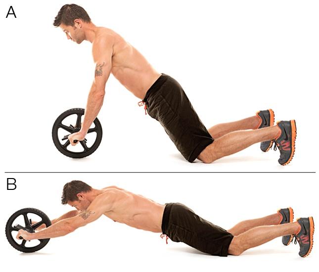 Cách tập Con lăn tập bụng AB Wheel