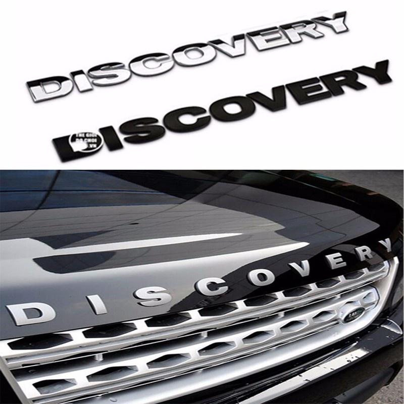Decal Tem Chữ Discovery 3D Kim Loại Dán Trang Trí Ô Tô 1