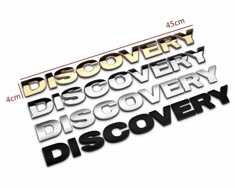 Decal Tem Chữ Discovery 3D Kim Loại Dán Trang Trí Ô Tô 2