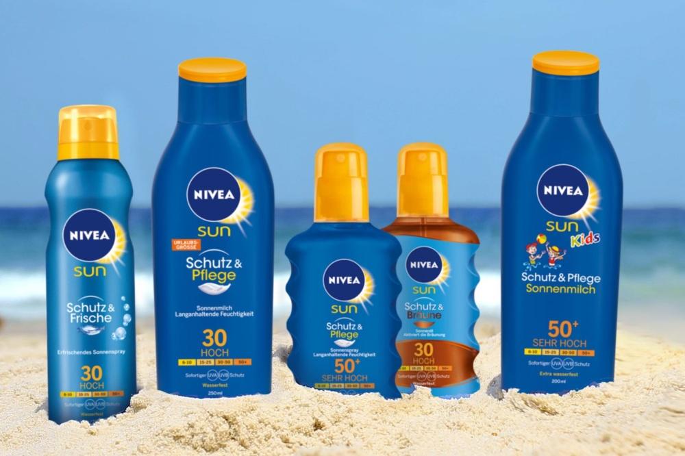 Image result for kem chống nắng nivea sun schutz & pflege