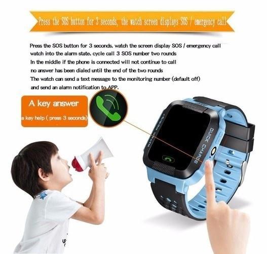 Đồng hồ định vị trẻ em GPS - Smart Watch Q528 Tracker GPS 5