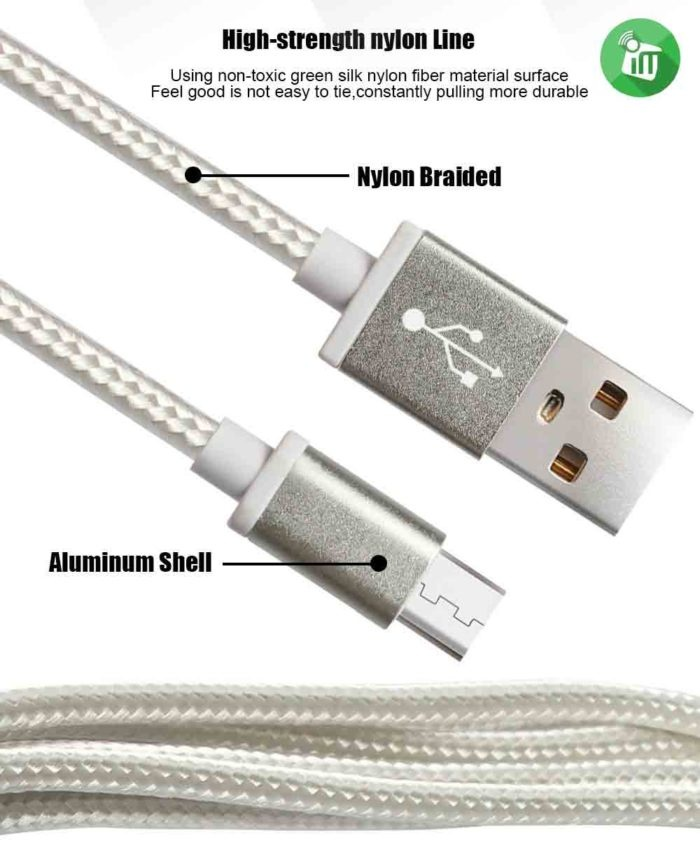Pisen Micro Data Sync Charging Cable With Double-sided USB 1000mm (5)