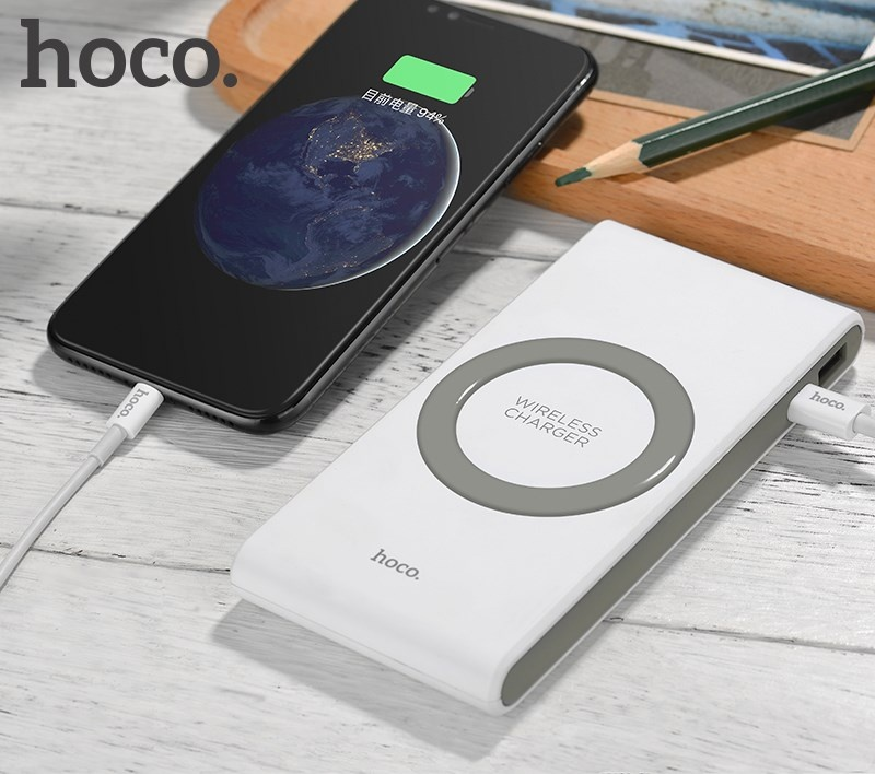 New Arrival Hoco B32 External Battery Portable Wireless Charger Powerbank 8000Mah Power Bank Wireless Charging For iPhone