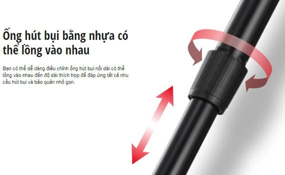 Hút bụi Panasonic MC-CG371AN46 với đầu hút có thể hút được những bụi bẩn mọi ngóc ngách, có dây rút tự động
