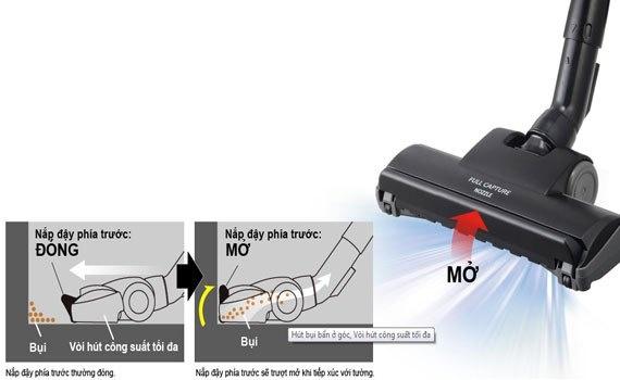Hút bụi Panasonic MC-CG371AN46 bề mặt trang nhã với thiết kế mặt cắt kim cương