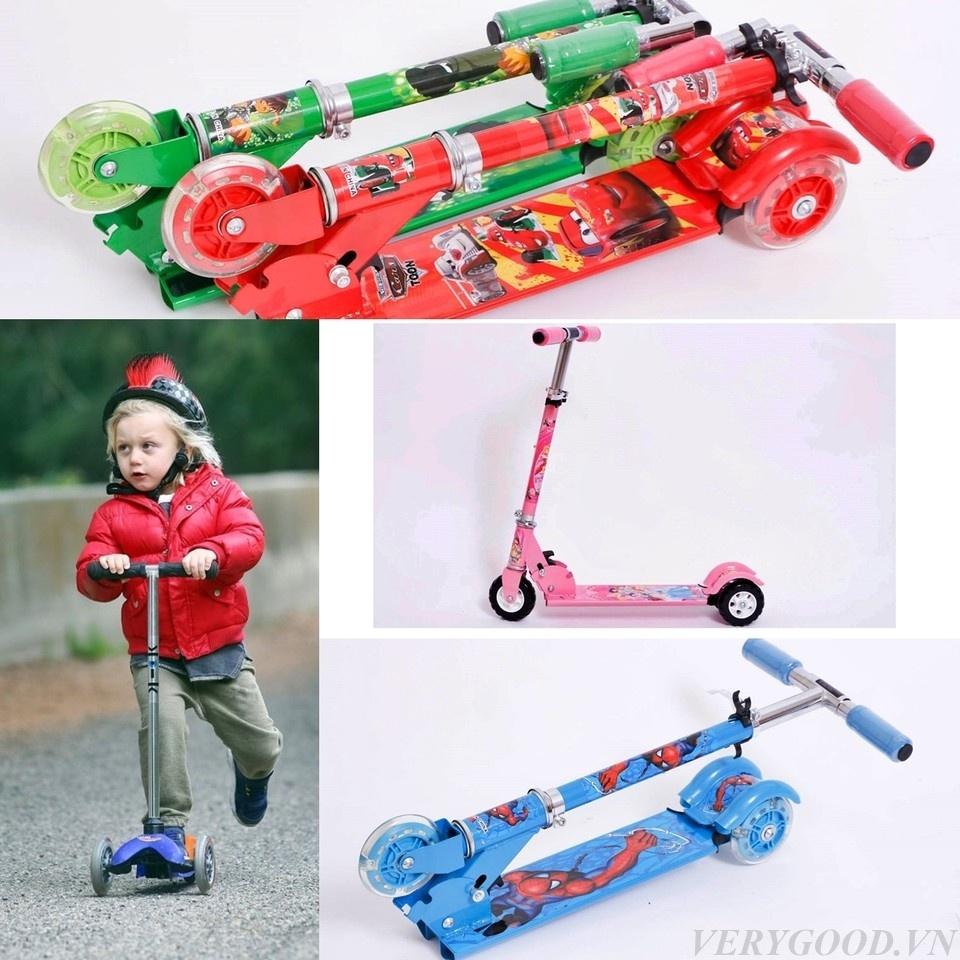 Xe đẩy chân scooter 3 bánh cho bé