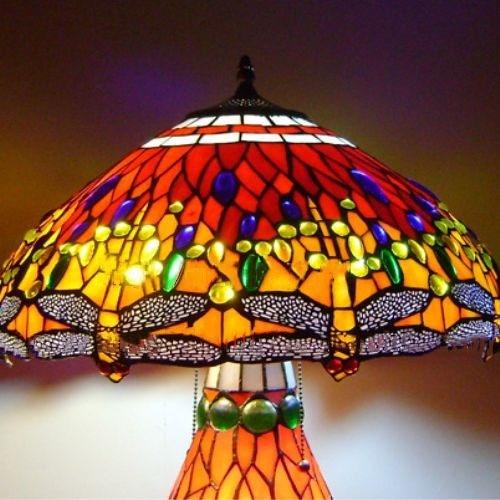 Đèn bầu chuồn chuồn cao cấp -Cam 7