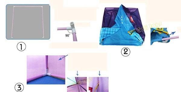 Lều tam giác cho bé 3