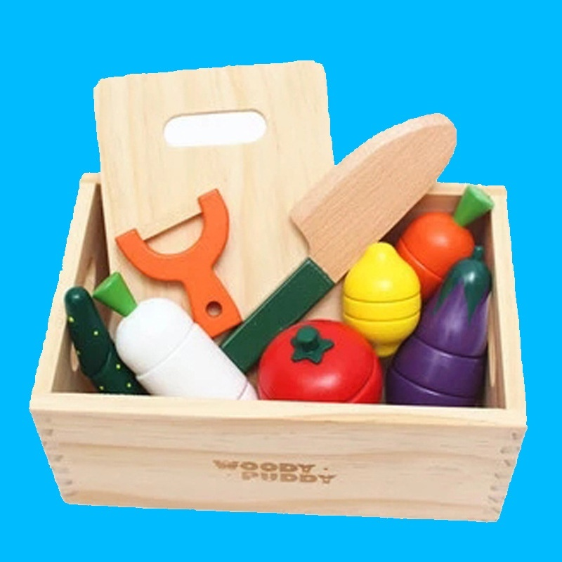 Bộ đồ chơi gỗ cắt hoa quả nam châm WOODY PUDDY NHẬT 1