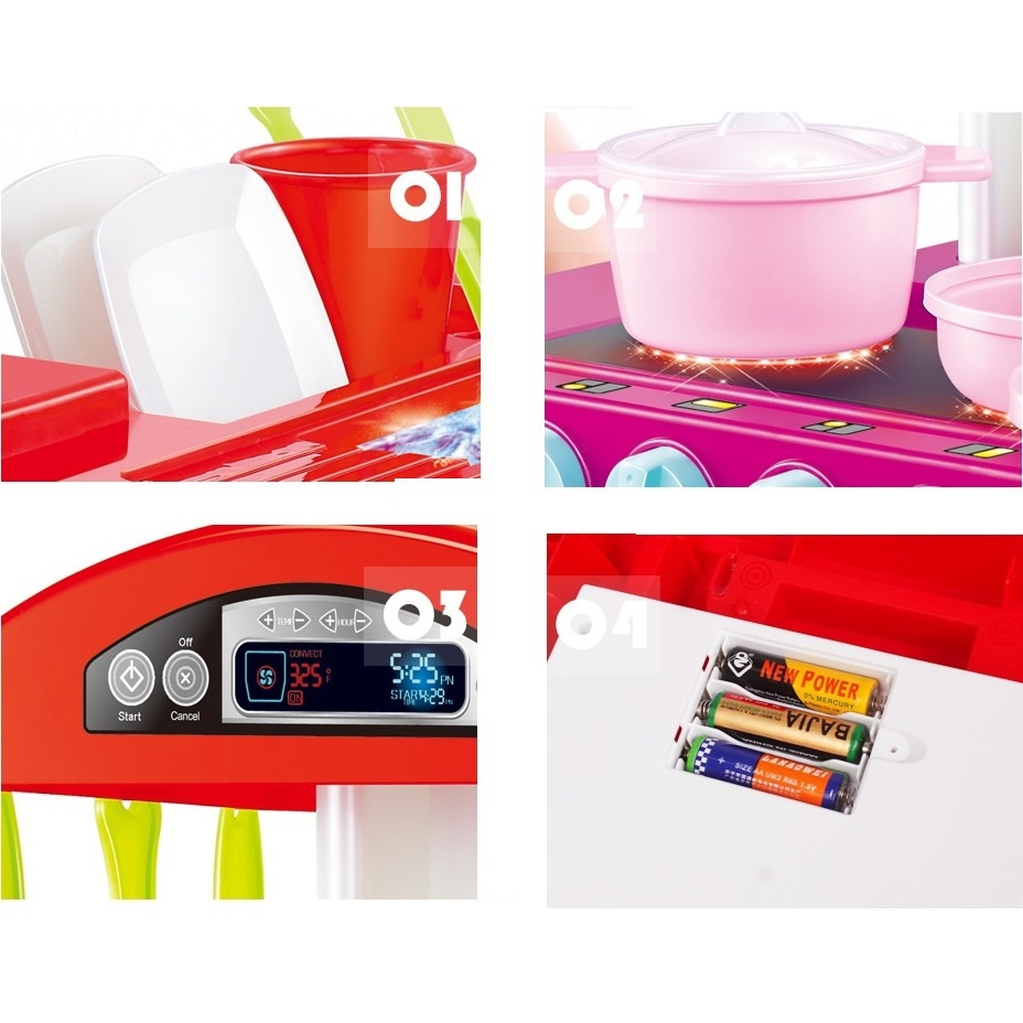 Bộ đồ chơi nấu bếp bằng nhựa cao cấp 13