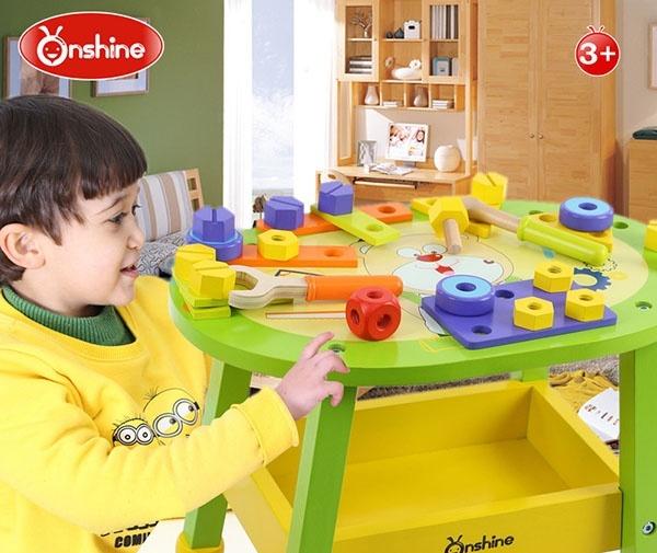 Bàn chơi dụng cụ lắp ráp bằng gỗ 2