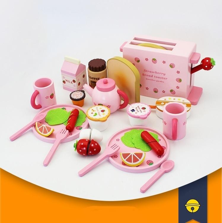 Đồ chơi gỗ set ăn sáng nướng bánh mì 37 chi tiết 1