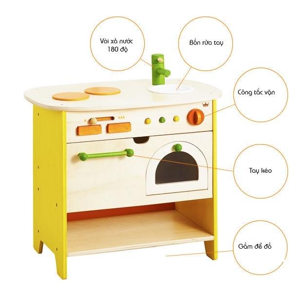 Bộ mô hình bếp và lò nướng gỗ cao cấp Ed Inter 1
