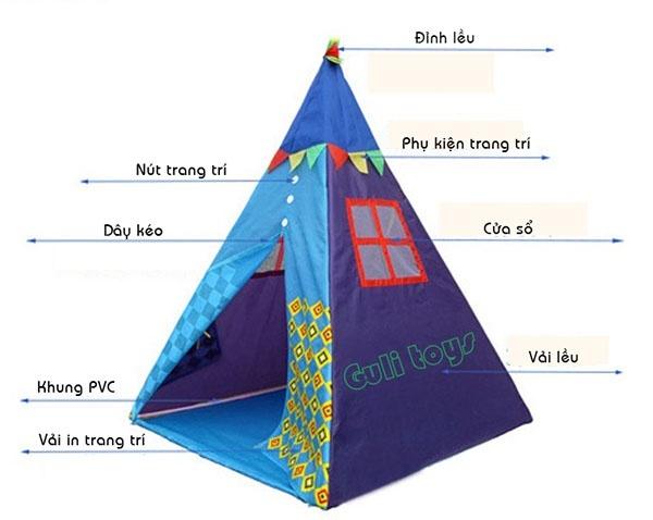 Lều tam giác cho bé 2