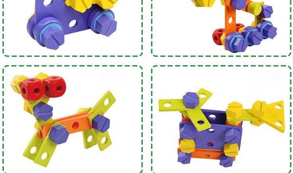Bàn chơi dụng cụ lắp ráp bằng gỗ 4