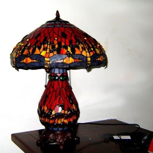 Đèn bầu chuồn chuồn cao cấp -Cam 10
