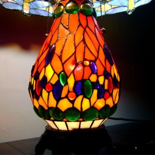 Đèn bầu chuồn chuồn cao cấp -Cam 4