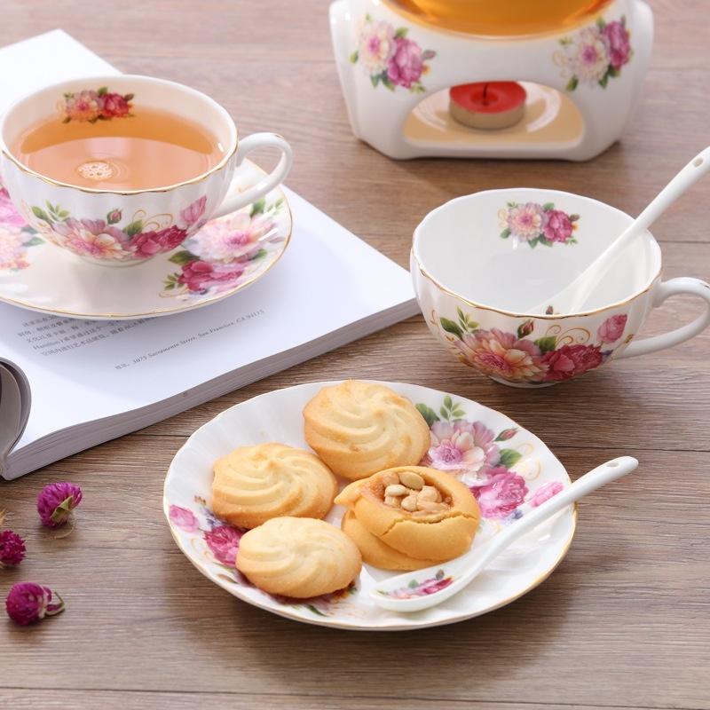 Bộ ấm trà bếp nến - Hoa Hồng 25