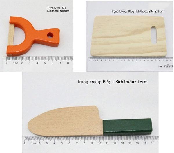 Bộ đồ chơi gỗ cắt hoa quả nam châm WOODY PUDDY NHẬT 2
