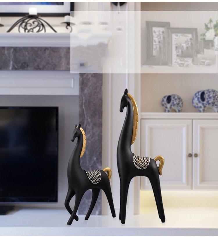 Bộ 2 tượng ngựa đen 7