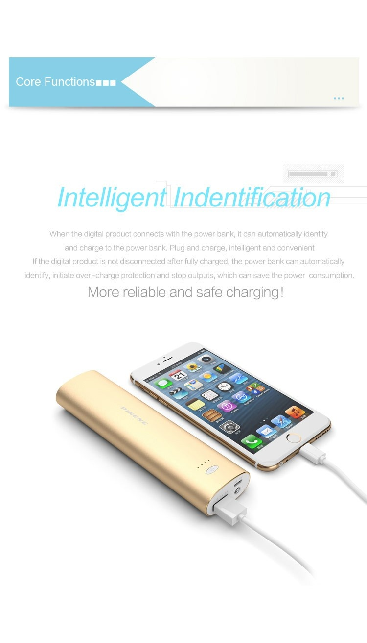 2017 Hot Sale Fashion Power Bank 10000mAh PINENG PN-925